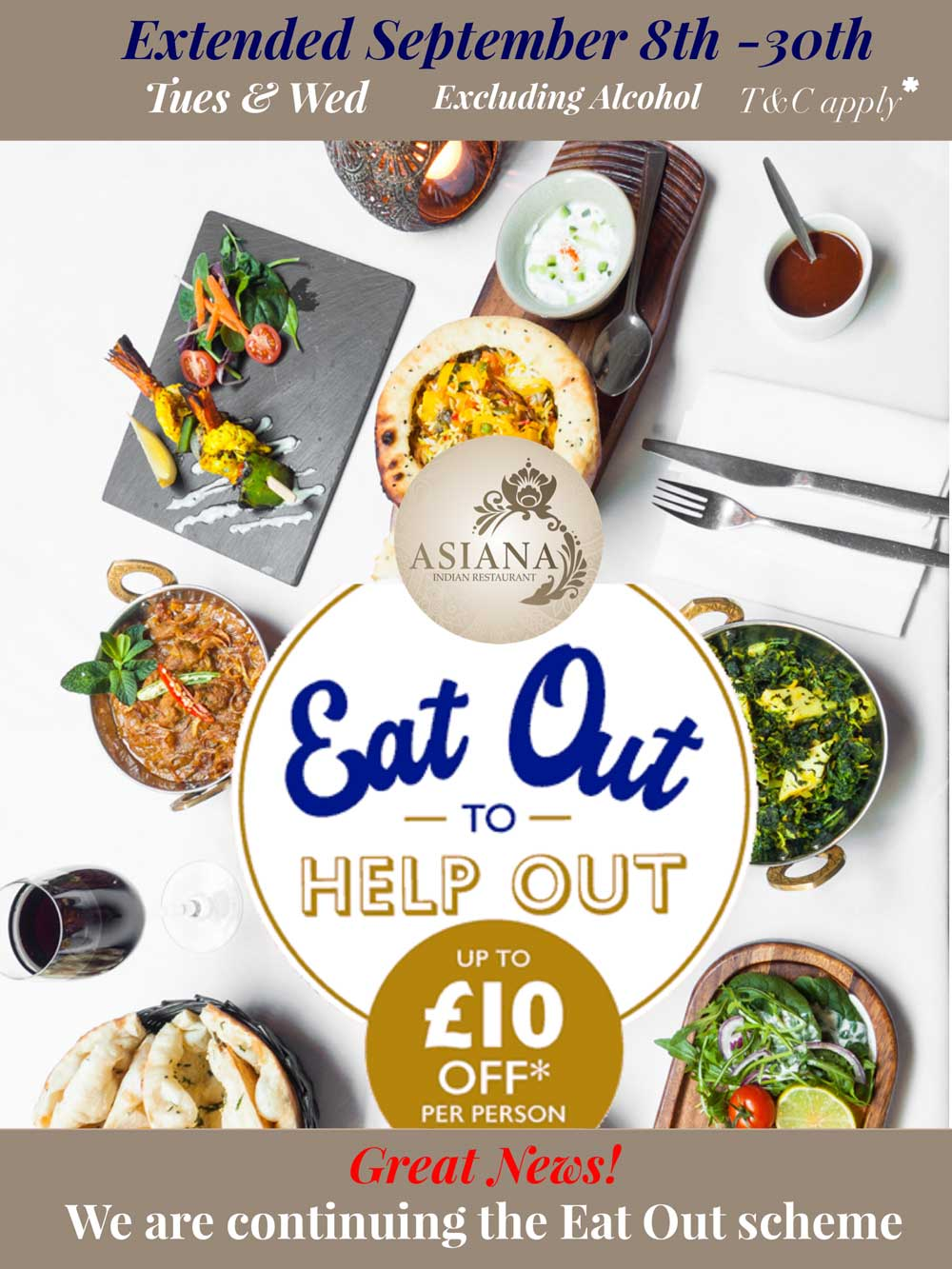 Eat Out to Help Out offer extended