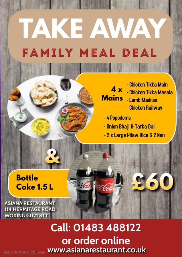 Takeaway family meal deal
